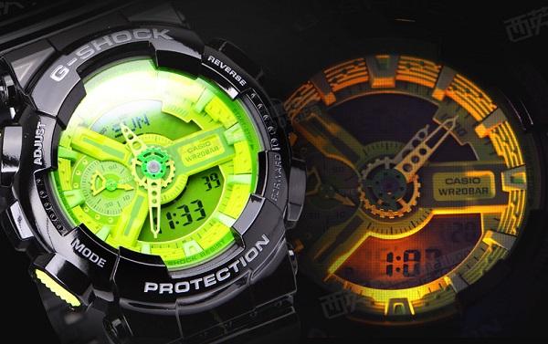 đồng hồ g shock đèn led 2