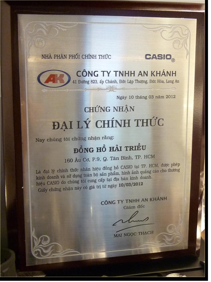 Chung Nhan Dai Ly Chinh Hang Casio